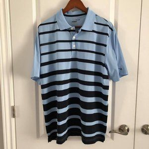 🆕 CHAPS Golf Polo Shirt Short Sleeve Blue Large